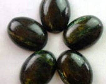seraphinite dark 25x18mm cabochon