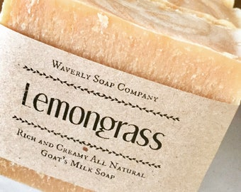 Lemongrass goat's milk soap/Lemongrass goat milk soap/goat's milk soap