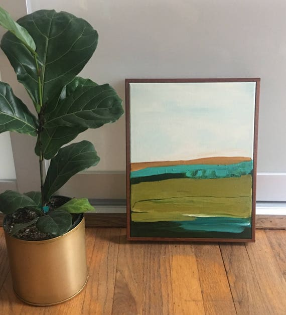 Original Framed Abstract Painting - Landscape