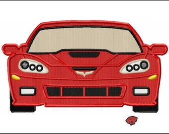 414 Corvette Front end Full Embroidery Designs in 5 x 7 and 6 x 8