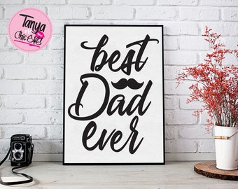 Best Dad Ever SVG cut file for Cricut and Silhouette cutting machines Family SVG Unique Font