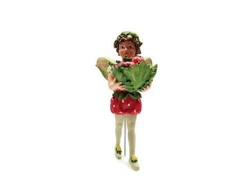 Strawberry Fairy,  fairy garden miniature, fairy garden, miniature garden, fairy garden decor, fairies, faeries, Cecily Barker