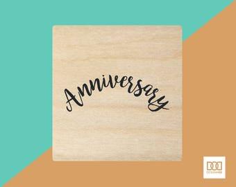 Anniversary - 3cm Rubber Stamp (DODRS0143)
