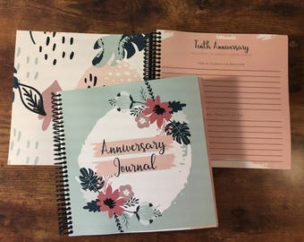 Anniversary Journal  - Spring Flowers