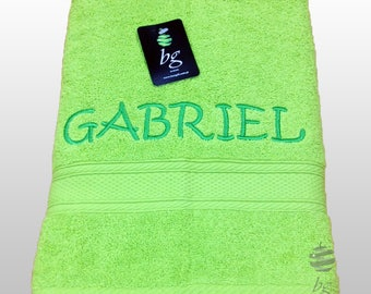 Personalized Bath Towels - Bath towel, Hand towel - Ref. Aqua