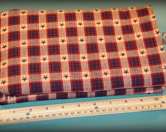 1 Yard Homespun Cotton Fabric Star Dobby Check NEW