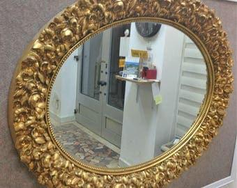 M7 Antique Solid Wood Mirror