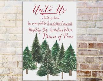 Christmas Canvas -- Unto Us!