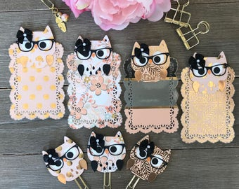JUST Peachy Owl TN Planner Page Marker or Planner Clip