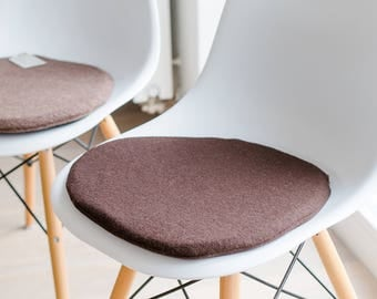 Chair cushions in chocolate brown, suitable for Eames Chair, limited
