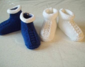 pair of slippers-handmade baby - birth to 1 month