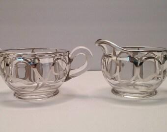 Antique Art Deco, Art Nouveau EAMCO Sugar and Creamer Set