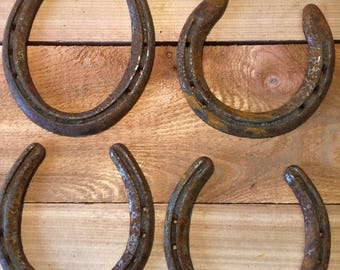 Horse shoe art etsy for Where to buy horseshoes for crafts