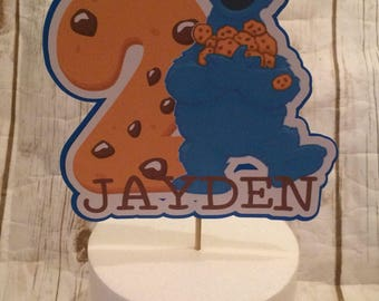 Cookie Monster Sesame Street Birthday Party Cake Topper/Party Decor