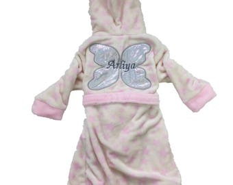 Personalsied Fairy Dressing Gown Robe Age 3-4 Yrs.