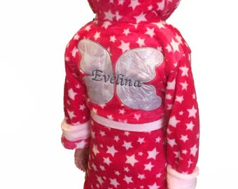 Personalised Fairy Princess Dressing Gown Robe Age 3-4 Years