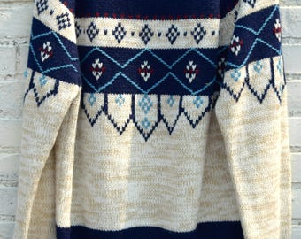 1970's Youngblood's brand sweater/100 %Acrylic/Geometric Design