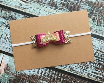 Sleeping Beauty Hair Bow, Sleeping Beauty Headband, Disney Princess birthday, Princess Aurora Hair Bow