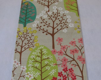 Table Runner Spring Blooming Trees Printing Scandinavian Design Linen Table Topper Modern Linen