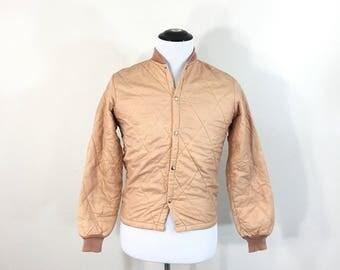 70's vintage quilt liner jacket snap button