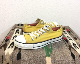 90's vintage converse chuck taylor tie sneaker canvas shoes made in usa size 5