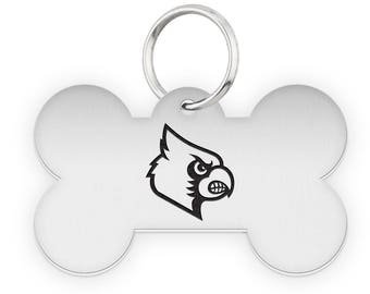 Louisville Cardinals Dog Tags | Pet Tags | Cat Tags | Necklace | College Pet Tags
