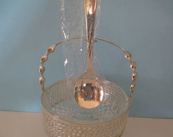 ARCOROC CONDIMENT BOWL with attached spoon, Arcoroc Jelly Dish, Arcoroc Server and Spoon, Arcoroc French Condiment Bowl and Spoon