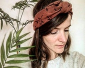 Headband bohème / tendance / printemps / plage / botanique / végétal / bandeau en lin