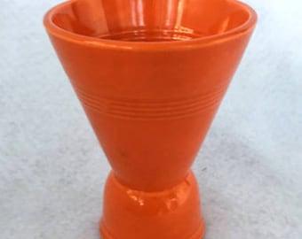 Vintage Orange Harlequin Double Egg Cup