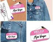 Miss Vanjie Badge • Rupauls Drag Race Badge • Funny Drag Queen Gift • Miss Vanjie • Rectangle Badge • Flair • Drag