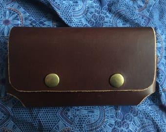 Leather, handmade cellphone case!
