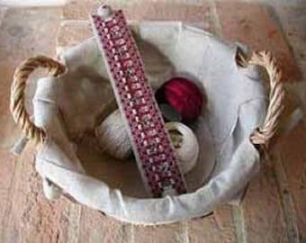 Bracelet bordeaux T015-01 kit broderie hardanger