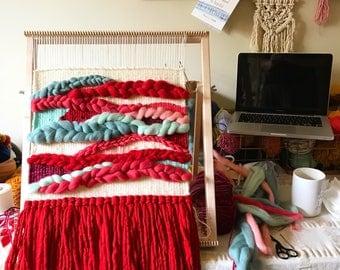 Large Woven Wall Hanging, Weaving Wall Hanging, Woven Wall Art, Colorful Decor, Textile Wall Hanging, Housewarming Gift, Yarn Wall Hanging