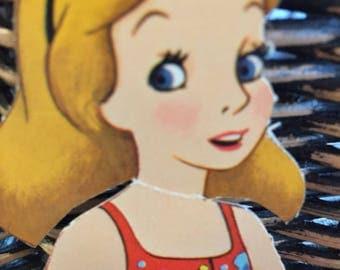 Vintage Alice in Wonderland Paper Doll Set Walt Disney Productions