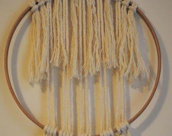 """Macrame Hoop Wall Hanging - """"Kinsa"""""""