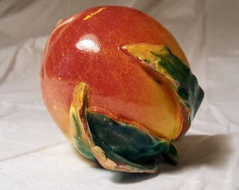 Chinese Ceramic Altar Fruit- Peach