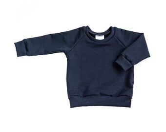 baby sweater, navy sweater, blue sweater, baby sweatshirt, neutral baby sweater, baby sweatshirt