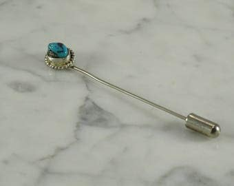 Sterling Silver / Turquoise / Stick Pin