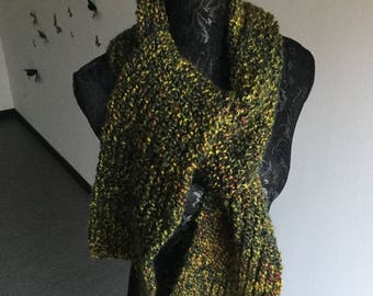 Pure wool green gradient scarf