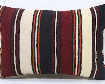 16x24 Anatolian Striped Kilim Pillow Boho Pillow 16x24 Lumbar Kilim Pillow Throw Pillow Ethnic Pillow Cushion CoverSP4060-724