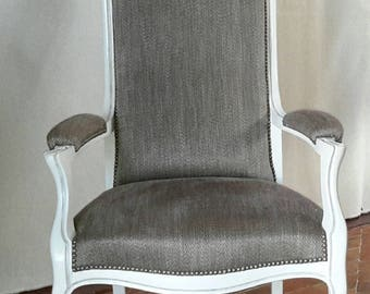 Chair Voltaire old completely renovated.