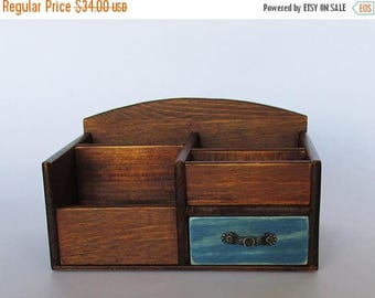 ON SALE Desk Organizer Office Organizer Pencil Cup Office Decor Caddy Tools Office Supplies Holder Home Decor  Distressed Finish Walnut Colo