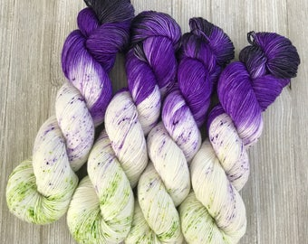 Witch Better Have My Candy - Sweet Sock - Indie Sock Yarn, Indie Dyed Yarn, Speckled Sock Yarn, Hand Dyed Yarn, Sock Yarn, Indie Speckled Ya