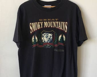 90s cherokee shirt etsy vintage smoky mountains 1990s 90s great smoky mountains grizzly bear graphic cherokee shirt publicscrutiny Image collections