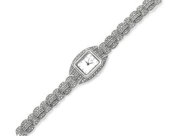 925 Sterling Silver, Marcasite Watch, Weighs 41,9 gram