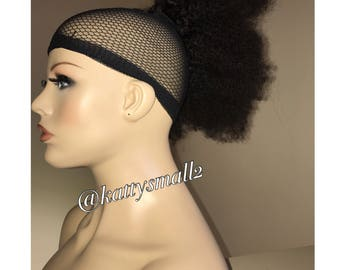 Afro kinky ponytail, drawstring ponytail, virgin hair ponytail, clip in bun, clip in extensions