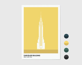 Chrysler Building, New York Print | New York Artwork | New York Illustration | Architecture Print | City Print