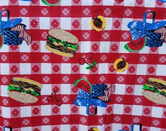 "Picnic Apron Fabric By The Yard 60"" Wide"