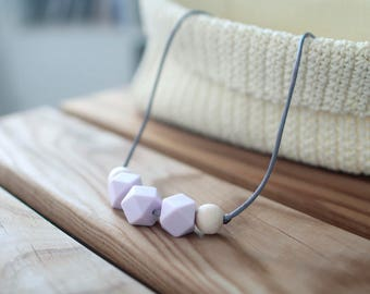 Breastfeeding Necklaces-Pink Pastel-BPA Free
