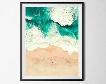 Beach poster, Beach print, Ocean Wall Decor, Tropical Print, Aerial Beach Print, Sea Print, Beach Photography, Tropical Art, Beach Art Print